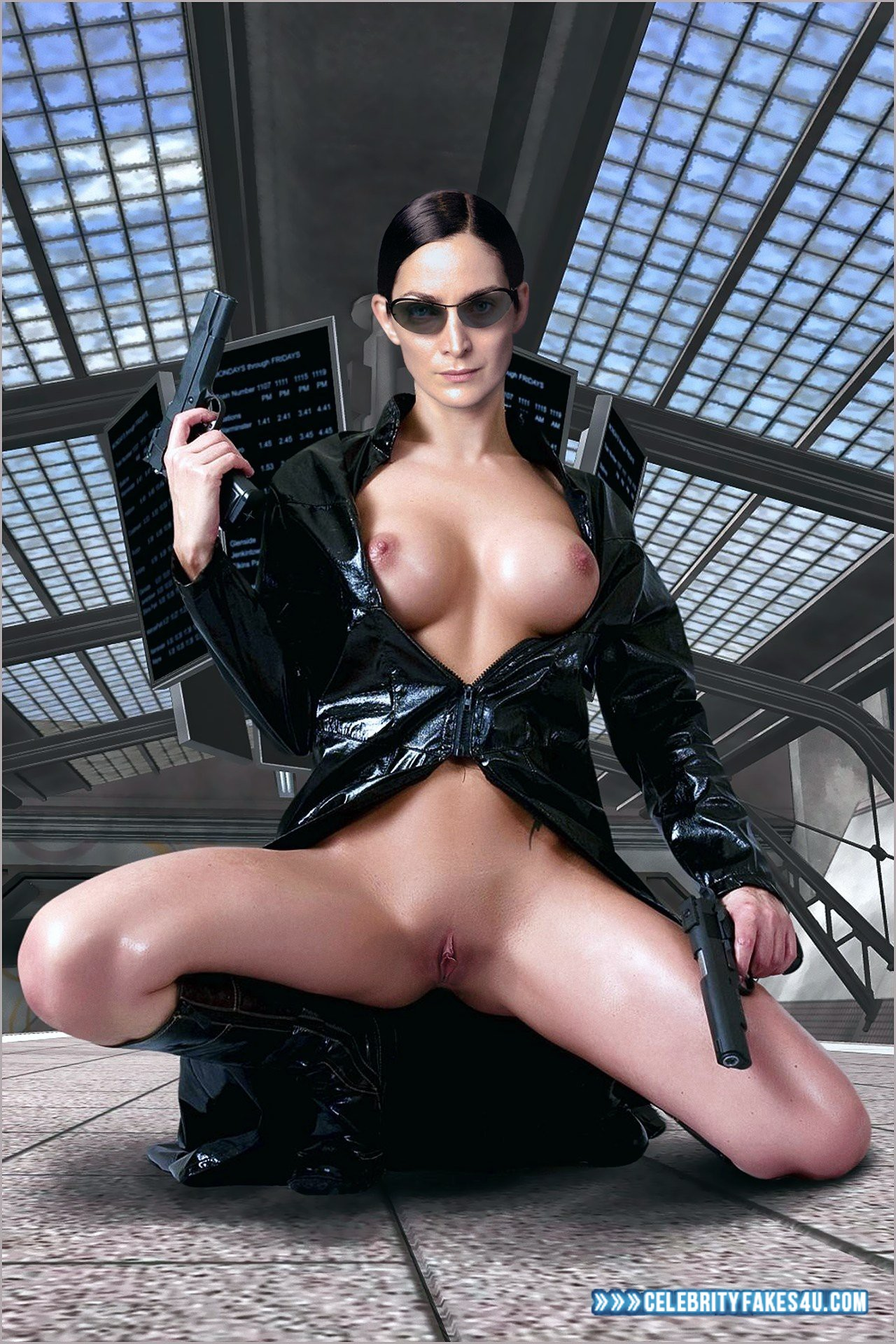 Carrie Anne Moss Pussy Exposed Wet Nsfw 001 ...