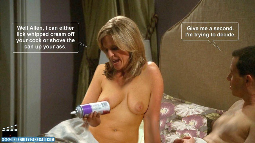 Courtney Thorne Smith Tits Two And A Half Men Porn Fake -1066