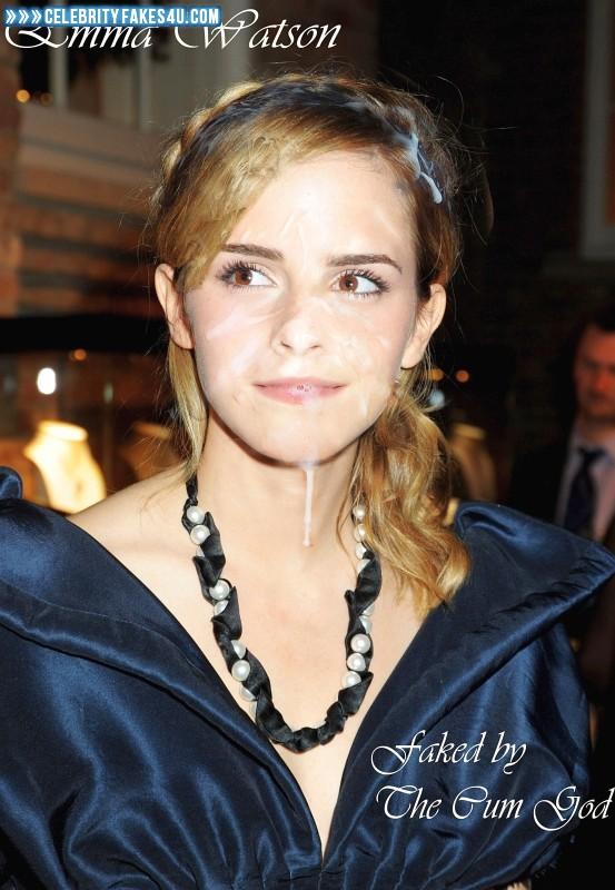 Emma Watson Cum Facial Fake 040 « CelebrityFakes4u.com