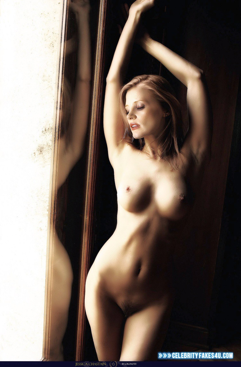 Jessica Chastain Naked Body Tits Fake 001 -9125
