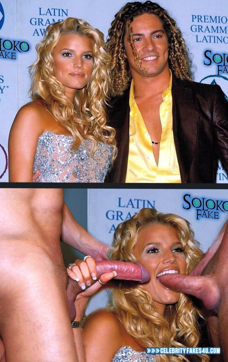 Hot Nude jessica simpson giving me a blow job