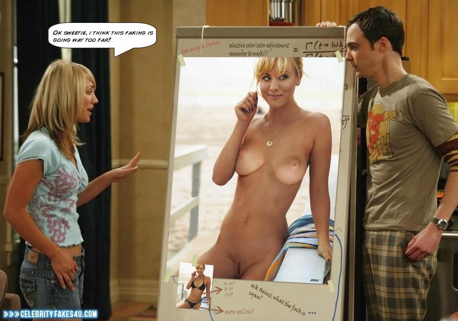 big bang, kaley cuoco nude fakes
