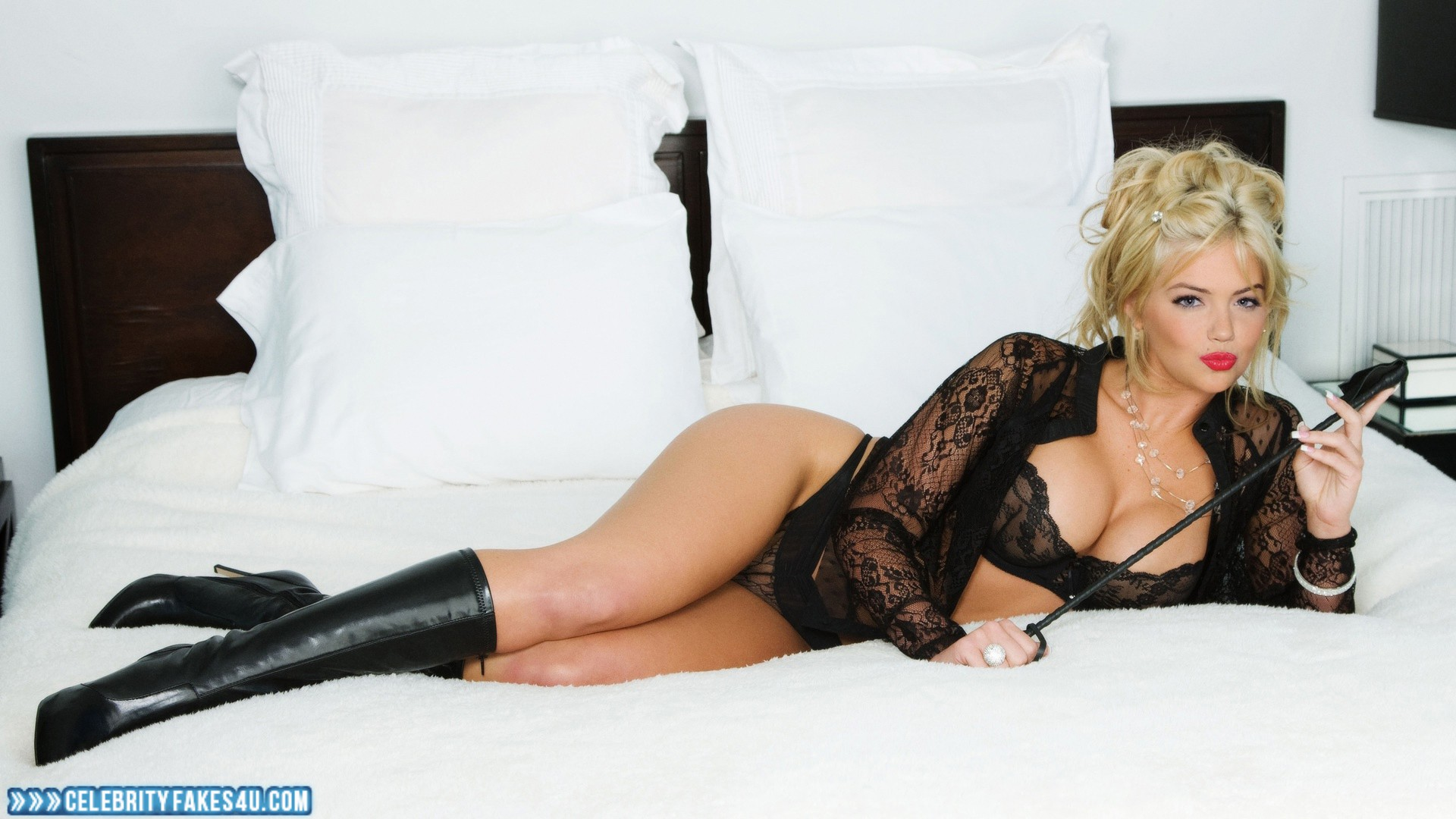 Kate Upton Nude Fakes Awesome kate upton knee high boots lingerie naked 001 « celebrityfakes4u